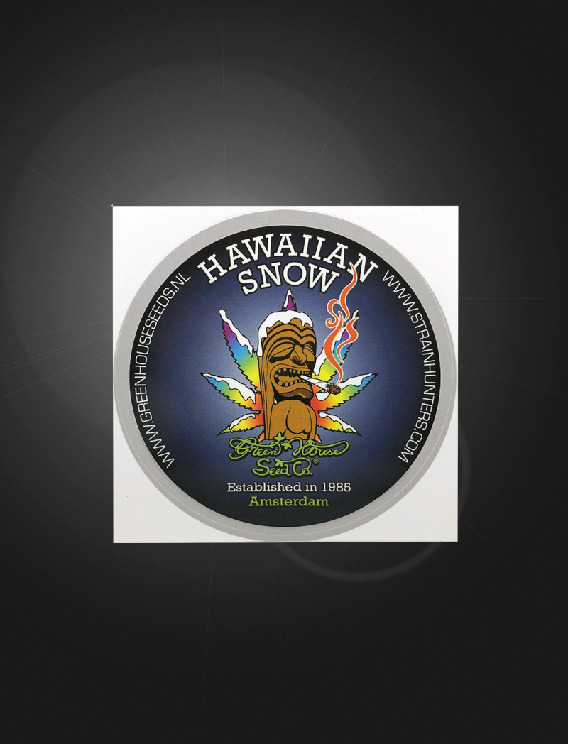 Hawaiian Snow   Sticker