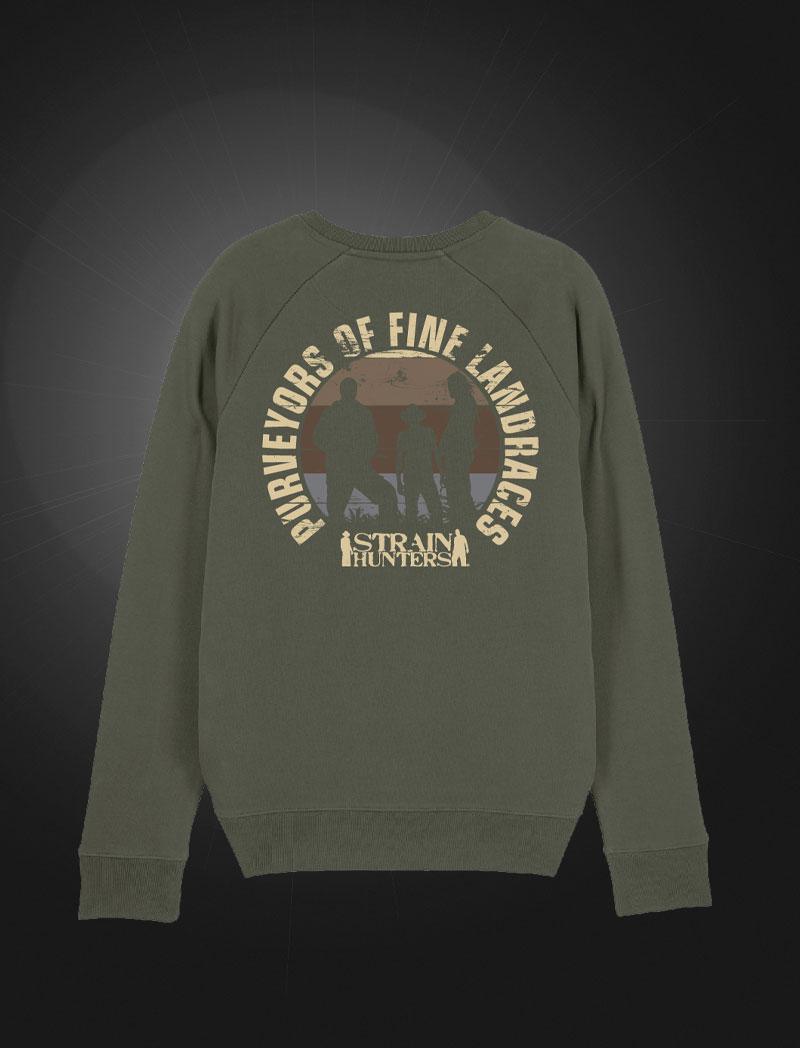 Strainhunters Crew Sweater Army