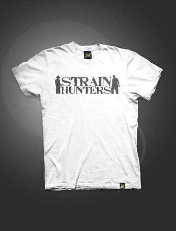 Strain Hunters Logo | White