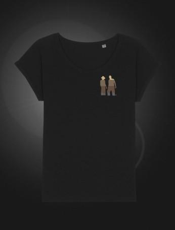 SH Female T-shirt Black front